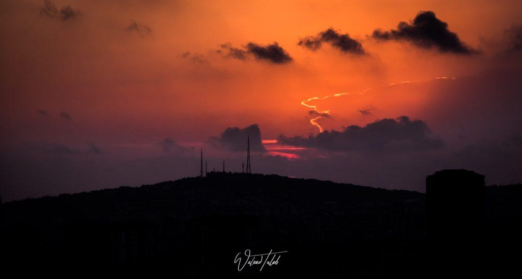 Çamlıca Hill at Sunset