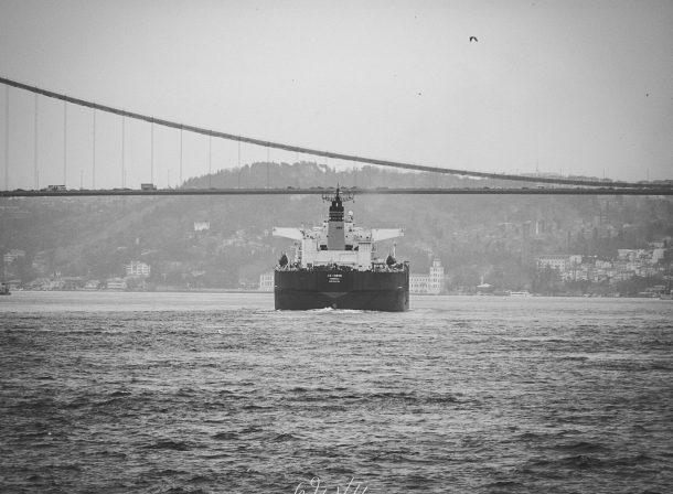 A ship in Bosphorus..