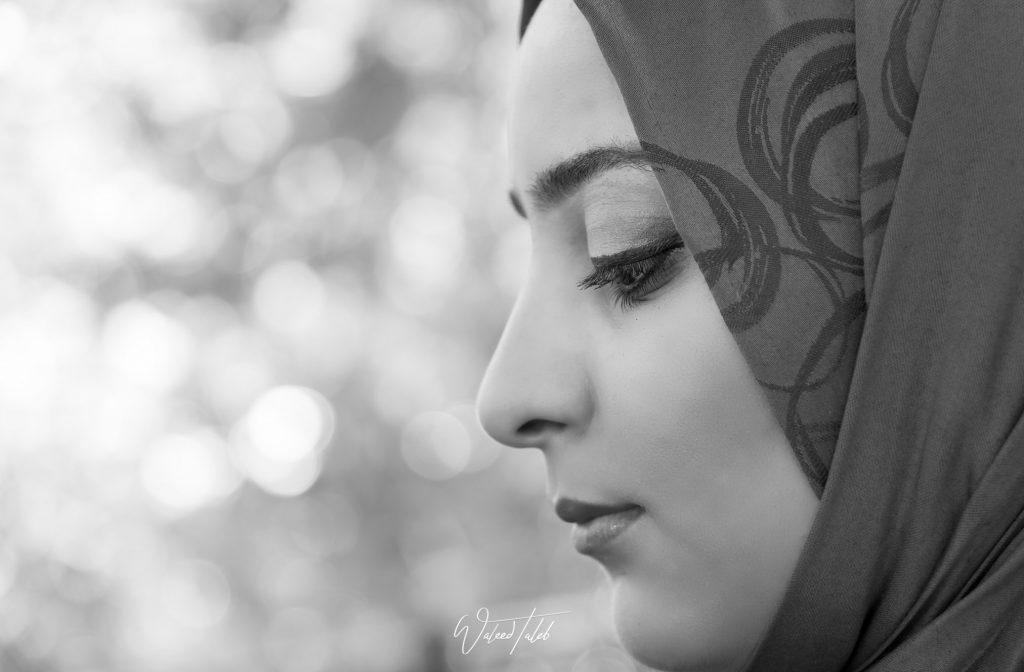 Duaa in Black and White